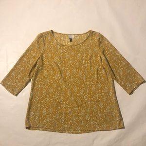 HD in Paris(Anthropologie) 3/4 sleeve blouse